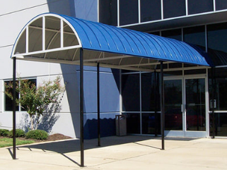 blue entry awning in raleigh nc